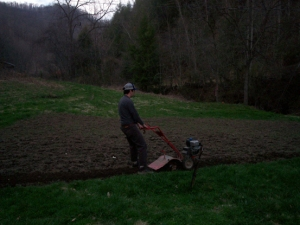 A Man and His Tiller