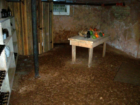 "The root/wine cellar - where all ""cold"" food items were stored"