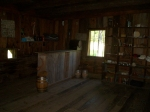 Inside the Vann Tavern - the counter and mercantile area of the largest room