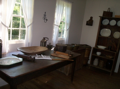 My favorite kitchen of the day in the Worcester House at New Echota