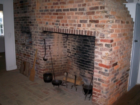 The cooking hearth and baking oven of the same kitchen