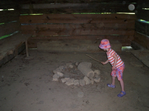 Deladis in a smokehouse at New Echota - orbs or dust particles... you decide :)