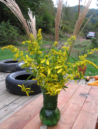 An arrangement of wildflowers for yellow Monday